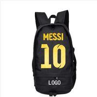 ليونيل ميسي العلامة التجارية على ظهره حقيبة مدرسية نجوم كرة القدم مشجعي كرة القدم daypack