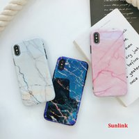 art print case design Granite Marble Soft TPU Phone Case Cov...