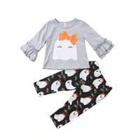 Halloween Kids Baby Girls Clothes Cute Ghost Tops Long Pants...