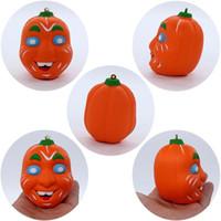 DHL Praktische Jokes Simulatie 9cm Pompoen Carline Squishy Slow Rising Halloween Squeeze Decompressie Kids Toy Cartoon Nieuwigheid Toys 10 Stks