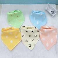Baby Bibs Burp Cloth Print Arrow Wave Triangle Kids Bibs Cot...