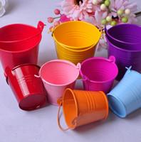 Tin pails bröllop favoriserar parti gåva mini hink mini pails tenn godis box dekoration gynnar box party gynnar tillbehör
