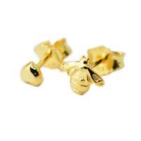 Совместим с Pandora ювелирные изделия стерлингового серебра 925 пробы позолоченные в форме сердца серьги стержня пчелы для женщин оригинальная мода серьги подвески ювелирные изделия
