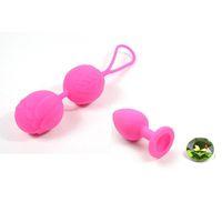 Ювелирные изделия анальный секс игрушки силиконовые Кегель мяч вибратор влагалище плотно упражнения вибратор бен ва мяч для женщины + силиконовые анальная пробка