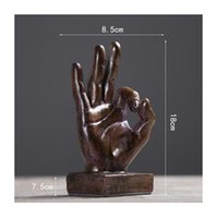 Retro home decorations victory gestures hand ornaments creat...