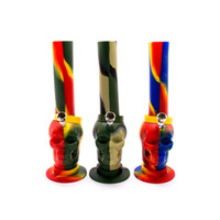 Cheap Silicone Bongs water pipe bong with Mix color Green Re...