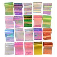 20 Pz / set Cielo stellato Nail Foil Nail Art Transfer Stickers Decalcomania Moda vetro rotto Punte di unghie fai da te Decorazioni