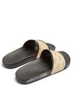 Heren en damesmode stempel print lederen dia sandalen rubberen slippers volwassenen Unisex causale platte flip-flops