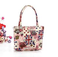 Coruja cosmética zipper saco Inglaterra Bandeira nacional do Eua sacola de lona saco de praia Dos Desenhos Animados sacos de lavagem de armazenamento viajar organizador sacos