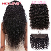 Malaysian Water Wave Bundles with Lace Frontal Closure 13*4 ...
