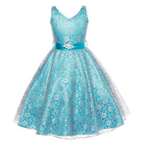 Lovely Lace Appliques Flower Girl Dresses Kids Evening Gowns...