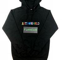 AstroWorld Carta bordado con capucha Hombres Mujeres Otoño Nueva Tops Negro sudaderas ropa de moda