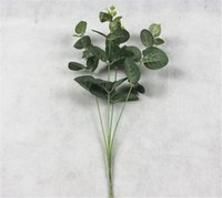 New Festive Green Artificial Leaves Large Eucalyptus Leaf Pl...
