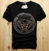 2018 New diamond tiger head T Shirts for men Luxury Brand po...