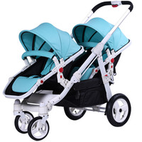Motherknows Twin Stroller Can Sit, Lie, Front And Back Foldi...