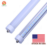 Stock en US + 8 pies LED 8 pies de un solo pin T8 Fa8 LED de tubo LED simple 45W 4800LM Lámparas de tubo de fluorescencia LED 85-265V