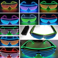 17Styles LED Party Glasses EL Wire Fluorescent Flash Hallowe...