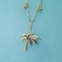 Luxury Jewelry 925 sterling silver Diamond Coconut tree pend...