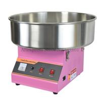 Elektrik Ticari Pamuk Şeker Makinesi / Paslanmaz Çelik Çıkarılabilir Kase ve Şeker Scoop ile Şeker Ipi Maker Pembe