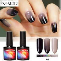 SVKDR 10 ml / pc Gel Esmalte de Uñas Cambio de Temperatura Color de Gel Polaco de Larga Duración Empapa del Clavo UV Gradiente de Laca de Color