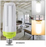 Светодиодные лампочки E27 E26 E14 Нет стробоскопической светодиодной лампы NED 10W 15W 20W AC85-265V Super яркий энергосберегающий свет для внутреннего освещения