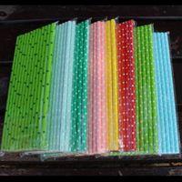 Питьевые соломинки прямые одноразовые экологически чистые биоразлагаемые бумажные трубы для Дня рождения свадьба декоративная партия экологические творческие Dri