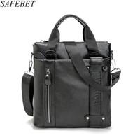 SAFEBET Марка Натуральная Кожа сумка Мода Мужчины Messenger Бизнес мужские Портфели Дизайнерские Сумки Высокого Качества Сумки На Ремне