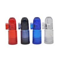 Acrílico Snuff Bottle Bullet Snuff Material plástico Fácil de llevar