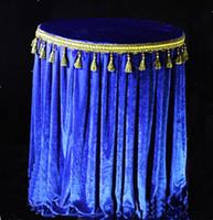 Spandex kadife Kraliyet Mavi / Lacivert 1.8 m çaplı yuvarlak masa örtüsü masa örtüsü 2 ADET Ücretsiz Kargo Ile