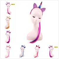 Hot Hair Sticks Suit Girls Princess Unicorn Horn Headband Wi...