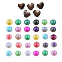 2018 fai da te 6-7mm d'acqua dolce Akoya Ostrica con perle singole miscelate 27 colori Hign Quality Circle Pearl Natural in PACCHETTO A VUOCO per gioielli