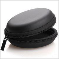 8 * 8 * 3см EVA Zipper наушники наушники Жесткий чехол Коробка для хранения футляры сумка SD Card Удерживать PU Амулеты коробки 100pcs / серия
