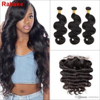 Brazilian Virgin Hair Bundles with Frontal Closure Body Wave...