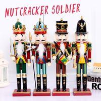 30cm 호두 까 기 인형 인형 군인 크리스마스 장식품 및 유쾌하고 비천한 크리스마스 선물을위한 가정 장식