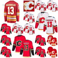 Johnny Gaudreau, substitut des Flames de Calgary, Matthew Tkachuk, James Neal, Mark Giordano, Mikael Backlund, Accueil Maillots de Hockey Blancs