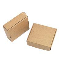 50 قطعة / الوحدة 6.2 * 5.8 * 2 سنتيمتر كرافت ورقة مربع للمجوهرات اللؤلؤ الحلوى هدية مربع اليدوية الصابون الخبز صناديق مخبز الكوكيز حزمة الشوكولاته مربعات