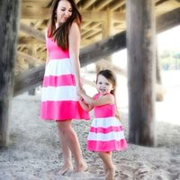 Mommy and Me Family Matching Mother Daughter Striped Patchwo...