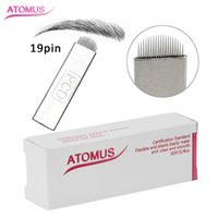 50 Pcs U 19 Pin Curved Microblading Needles Tattoo Needles f...