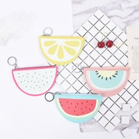 Cartoon Mini Wallet For Girls Watermelon Bag Fruit Pattern K...