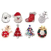 Взаимозаменяемые Рождество металла горный хрусталь Оснастки кнопки W085 сплава Diy ювелирные изделия fit 18 мм Оснастки кнопки браслеты для женщин подарок