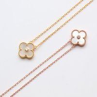 Luxury Necklaces 18k Clover necklace white gemstone pendant ...