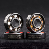 ABEC 9 Red FREESPORT Skateboard Skateboarding Bearings 608 RS Disco deriva Disco in ceramica Acciaio inossidabile Articoli sportivi 22mm A238