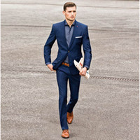 Summer Navy Blue Men Suits 2018 Wedding Suits for Men Gentle...