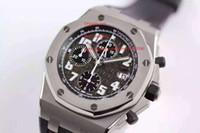 공장 공급 최고 품질의 42mm 남성 시계 손목 시계 석영 크로노 그래프 블랙 다이얼 새로운 도착을 손목 시계