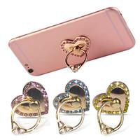 Роскошные 360 градусов Алмаз в форме сердца палец кольцо держатель мобильного телефона стенд кронштейн для Iphone8 Samsung Примечание 8 Все смартфон