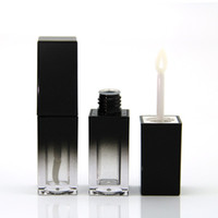 5ml Lip Gloss Packing Bottle Gradient Black Square Lip Glaze...