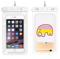 Sıcak Karikatür Evrensel Kapak Su geçirmez Telefon Kılıfı iPhone 7 6S Coque Kılıfı Su Geçirmez Çanta Kılıf için Samsung Galaxy S8 yüzün Su Geçirmez Kasa