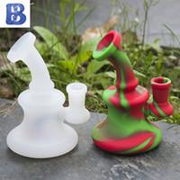 Duş başlığı temizleme ile 5 inç silikon banger askı renkli silikon sigara borular Nargile Borular için çıkarılabilir fo