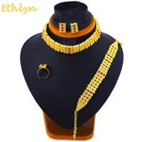 Ethlyn Conjuntos de gargantilla Etíope Eritrea Accesorios de Joyería Tradicional de Oro Color Clásico Conjuntos de Bodas de Novia S098