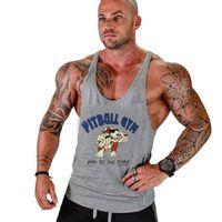 Männer Cartoon Baumwolle Fitness Lose Tank Tops Für Männer Sommer Casual Sport Muscle Gym Sleeveless T-Shirts Westen XXL